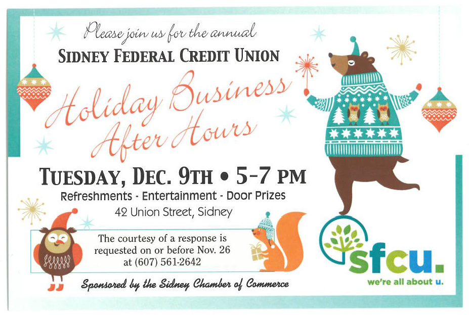 SFCU Business After Hours Sidney Headquarters Invitation